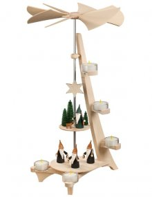 L-shaped pyramid mountain gnome and hunter gnome, 2 floors