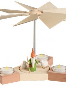 Table pyramid Hexagonum, shepherd gnome