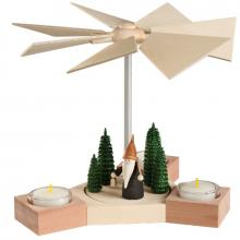 Table pyramid Hexagonum, mountain gnome