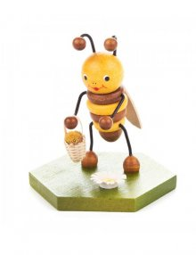 Collectible bee with flower basket