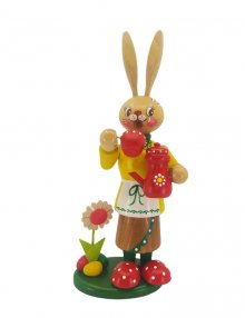 Incense figurine Easter bunny woman