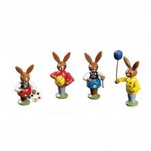 Rabbit children playing, 4-part.