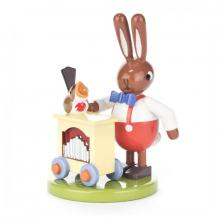 Rabbit with organ grinder, small