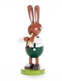 Rabbit with a small clarinet, small