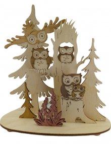 Tealight holder owl, 5 levels