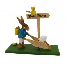 Bunny with a wheelbarrow