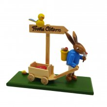 Bunny with a handcart