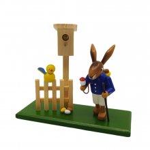 Rabbit with bird house