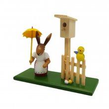 Rabbit Women with bird house