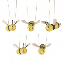 Hangings bees with funny faces