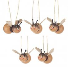 Hangings bumblebees with funny faces