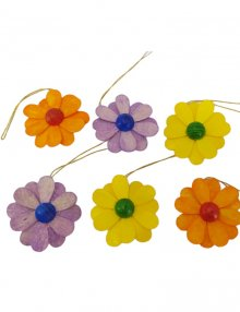 6-part curtain of flowers, colored