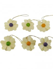 6-part hanging flowers, natural
