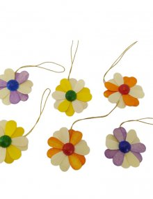 6-part hanging flowers, 2-colored