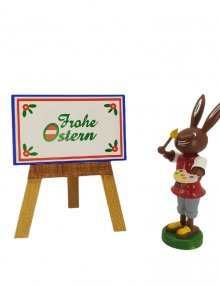 Rabbit with a drawing board