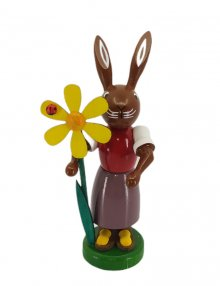 Rabbit with a flower
