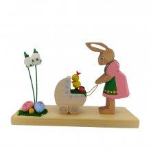 Rabbit with a doll's pram