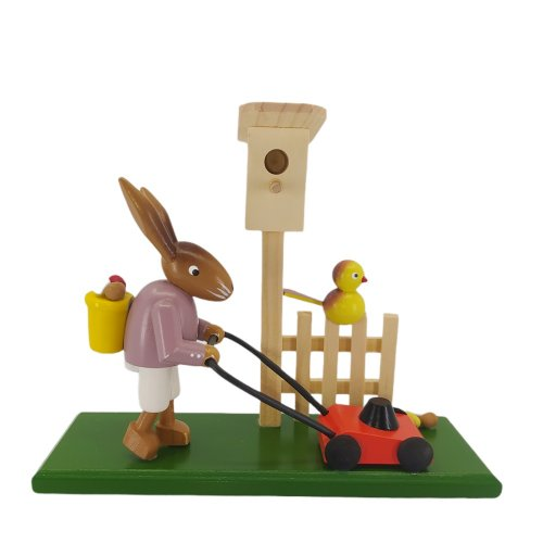 Rabbit with lawn mower