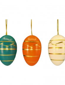 Hanging Easter eggs, large, 6 pieces.