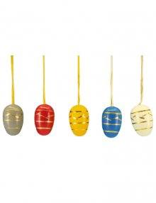 Small easter egg hanging, 10 pieces.