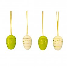 Small easter egg hanging, 10 pieces. green