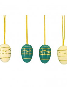 Small easter egg hanging, 10 pieces. blue