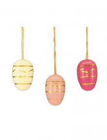 Small easter egg hanging, 10 pieces. pink