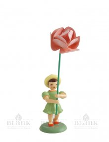 Blank flower child with peony, colored