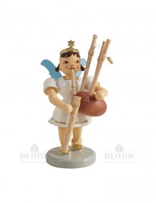 Blank angel with short skirt with bagpipes, colored