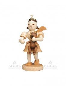 Blank angel with short skirt with teddy bear
