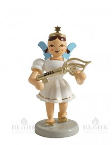 Blank angel with short skirt with lucky key, colored special edition 2021