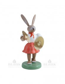 Blank Easter bunny with basin, colored