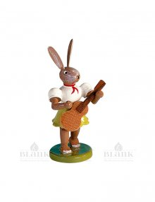Blank Easter bunny with guitar, colored
