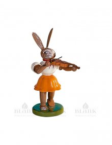 Blank Easter bunny with violin, colored