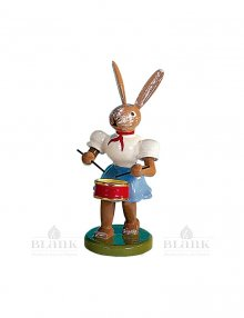 Blank Easter bunny with drum, colored