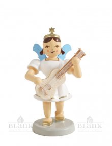 Blank angel with short skirt with guitar, colored
