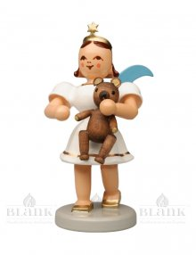 Blank angel with short skirt with teddy bear, colored