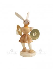 Blank Easter bunny with basin, natural