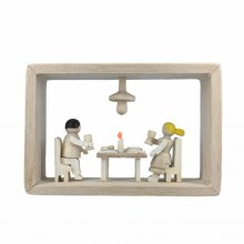 Frame in the matchbox, dinner for two