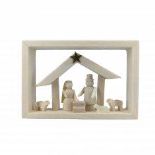 Frame in matchbox, birth of Christ