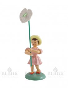 Blank flower child with anthurium, colored