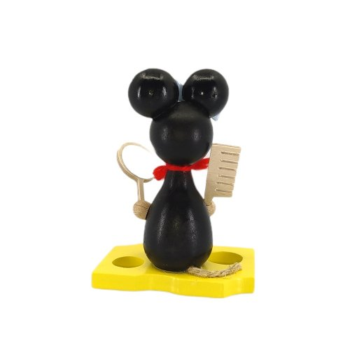 Mouse child with mirror and comb