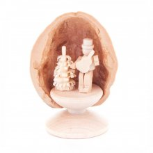 Miniature Guitar Player in Walnut Shell