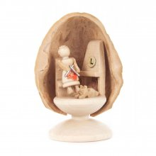 Miniature Grandma in Walnut Shell