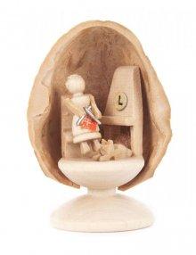 Miniature Grandma in Walnut Shell