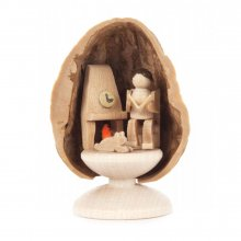 Miniature Grandpa in Walnut Shell