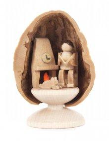 Miniature Grandpa in Walnut Shell