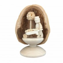 Miniature Gardener in Walnut Shell, standing