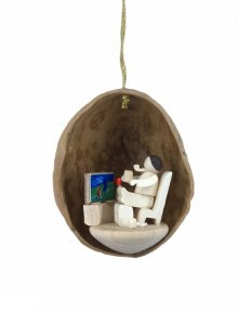 Tree Ornaments after work in walnut shell