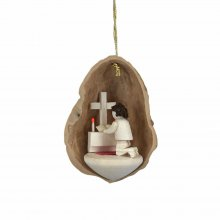 Tree Ornaments Prayer in Walnut Shell